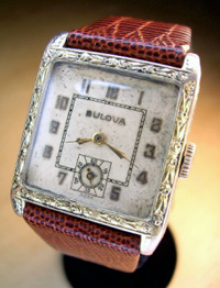 1929 Bulova square gents yellow gold filled