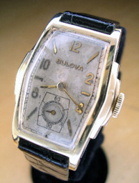 1937 Bulova gents wrist watch stepped case