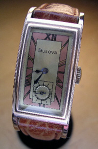 1940 Bulova curved rose gold filled case