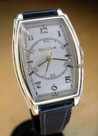 1940's Bulova doctors watch yellow g.f. case