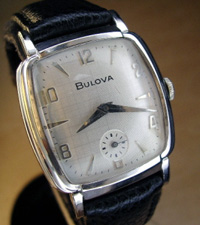 1951 Bulova wrist watch white gold filled