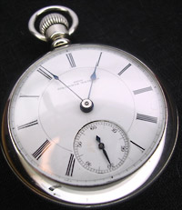 1899 Columbus pocket watch, silver cased open face