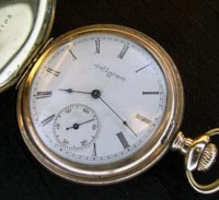 Elgin 16 size hunters pocket watch, yellow gold filled case