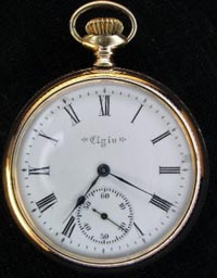 Elgin 16 size roman numeral dial, 17 jewel
