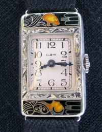 1925 Elgin Lady and Tiger wrist watch