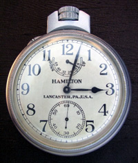 Hamilton military pocket watch, government issue
