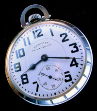 Stainless steel Hamilton 992b railroad pocket watch
