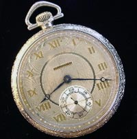 12 size Hampden open face pocket watch