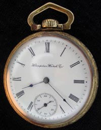 Dueber Hampden open face pocket watch
