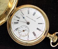 Hampden 16 size gold filled hunters pocket watch 17 jewel