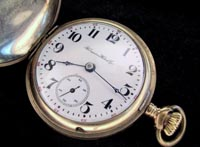 Hampden 18 size 1900s hunters pocket watch