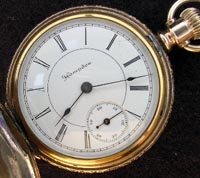 Hampden 18 size pocket watch lever set gold filled pocket watch