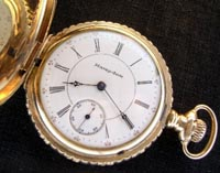 Hampden 6 size lever set pocket watch 1920s
