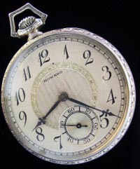 12 size open face Howard pocket watch