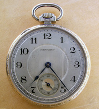 14 size open face Howard pocket watch
