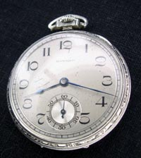 Howard 10 size open face pocket watch