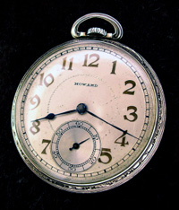 Howard 12 size open face pocket watch
