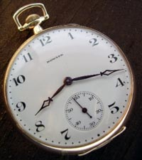 Howard 14 size open face pocket  watch