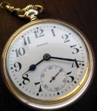 Howard open face railroad pocket watch