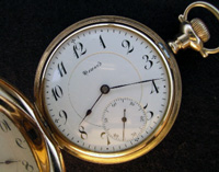 Howard open faced 16 size pocket watch