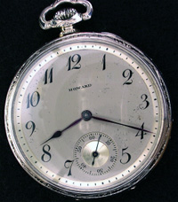 Open face solid gold Howard pocket watch