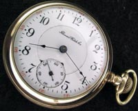 1897 Illinois pocket watch in a yellow gold filled case