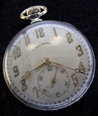 Illinois 12 size Aristocrat open face pocket watch