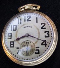 Illinois 18 size 17 jewel pocket watch 1919