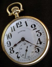 Illinois Sangamo 21 jewel railroad pocket watch