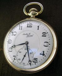 Illinois Sant Fe Special pocket watch open face 21 jewel