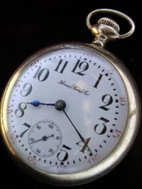 Illinois open face Ariston model pocket watch 16 size 1920