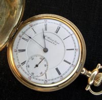 Illinois private label hunters pocket watch, 16 size lever set 1901