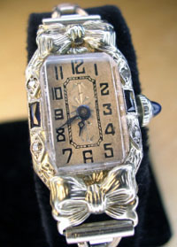 1920's ladies diamond watch