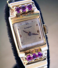1920's solid gold Ollendorf ladies watch