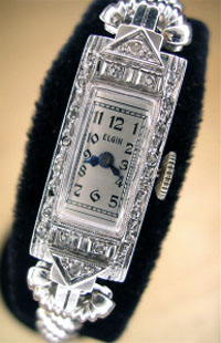 1923 Elgin ladies watch diamonds
