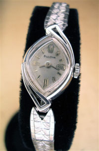1958 Bulova ladies w.w. in 10k y.g.f.