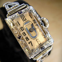 Brunvil ladies diamond watch  1920's