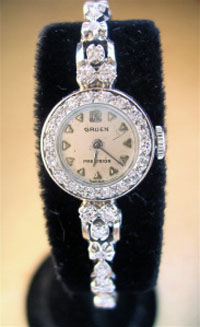 Gruen ladies diamond watch 1948