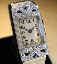 Longines diamond ladies watch 1920's