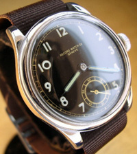 1940's Axis military wrist watch black dial