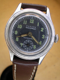 1940's Hudson soldiers watch silver case
