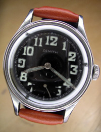 1940's Zenith military wrist watch stainless case