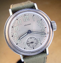 1942 Waltham military watch refinished dial