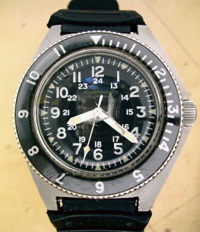 1960's Benrus type 2 class A divers watch