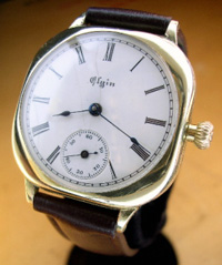 WWI Elgin soldiers watch porcelain dial