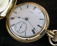 17 jewel lever set Waltham pocket watch model 1883