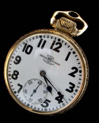 Ball watch company made by Waltham 16 lever set railroad watch