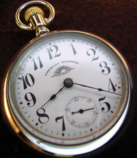 Bold number Waltham 18 size pocket watch