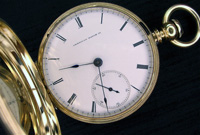 Early sold gold key wind Waltham pocket watch Model 1857