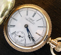 Waltham 0 size hunters pocket watch 1880s - 1890s